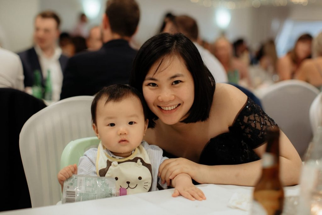 Liling Ong With a child