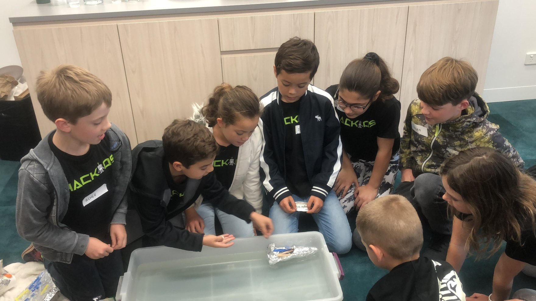 Group of children working together