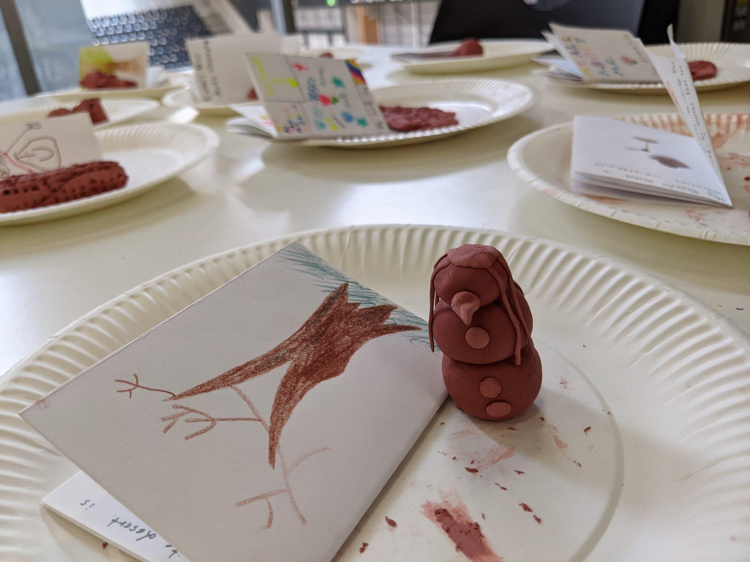 Snowman Clay art by Children